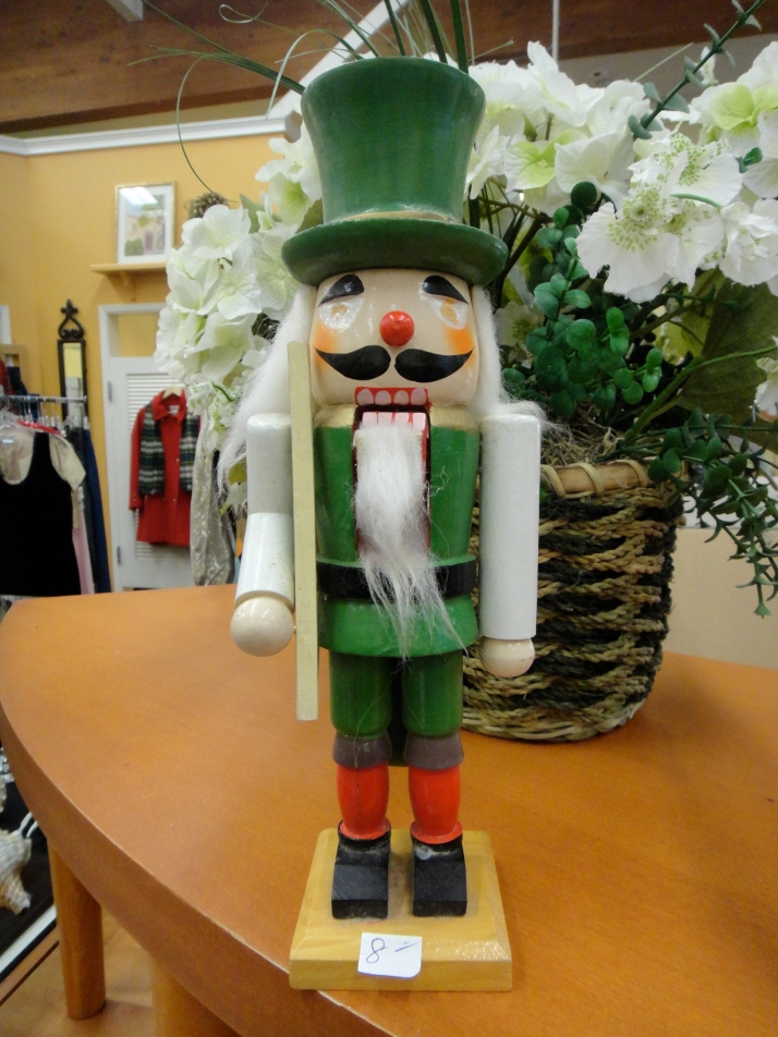 Nutcracker with no eyes.